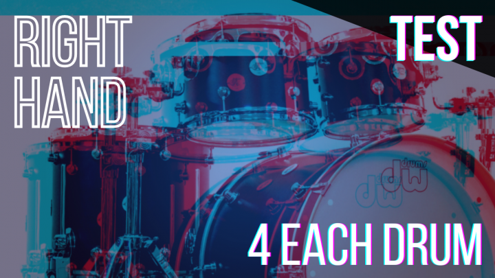 SPEED TEST: RIGHT HAND 4per Drum – Random