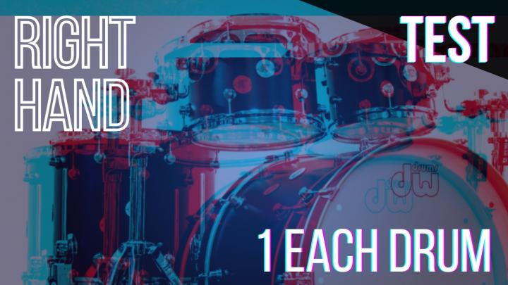 SPEED TEST: RIGHT HAND 1per Drum – Random