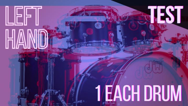 SPEED TEST: LEFT HAND 1per Drum – Random