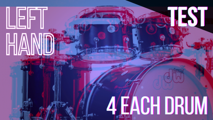 SPEED TEST: LEFT HAND 4per Drum – Random