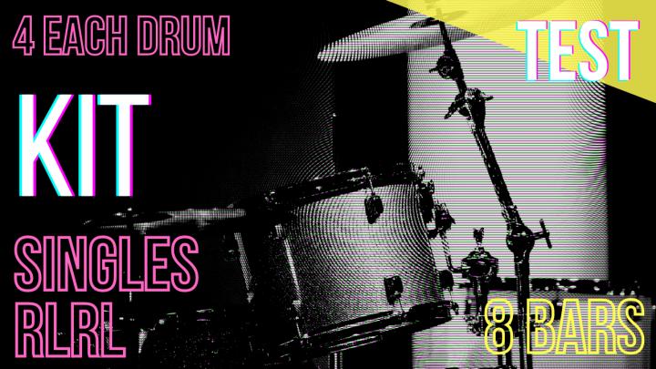 SPEED TEST: HANDS Singles (R,L) 4per Drum – Random – 8Bars