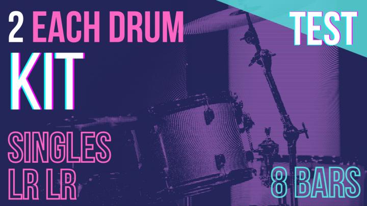 SPEED TEST: HANDS Singles (L,R) 2per Drum – Random – 8Bars